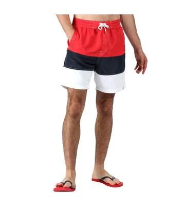 Regatta - Short de bain BRATCHMAR - Homme (Rouge/bleu marine/blanc) - UTRG4919