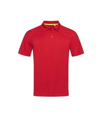 Stedman Mens Active 140 Mesh Polo (Crimson Red) - UTAB346