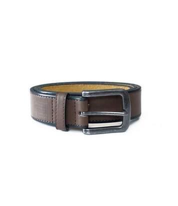 Duke Mens Avant King Size Burnished Edge Belt (Brown) - UTDC185