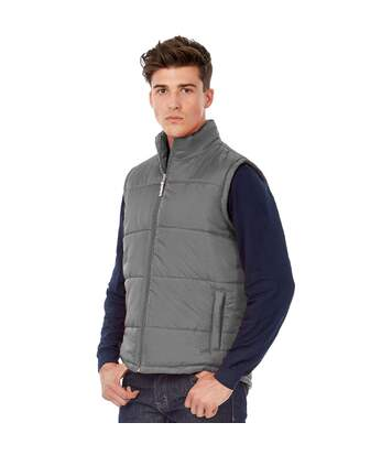 B&C Mens Full Zip Waterproof Bodywarmer/Gilet (Dark Grey) - UTRW3037