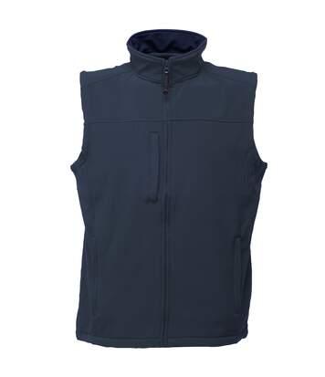 Regatta Mens Flux Softshell Bodywarmer / Sleeveless Jacket (Water Repellent & Wind Resistant) (Black/Seal Grey) - UTRW1213