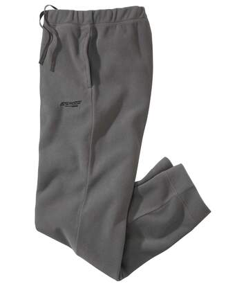 Men's Grey Casual Microfleece Trousers