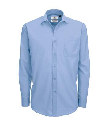 B&C Mens Smart Long Sleeve Poplin Shirt / Mens Shirts (Business Blue) - UTBC111