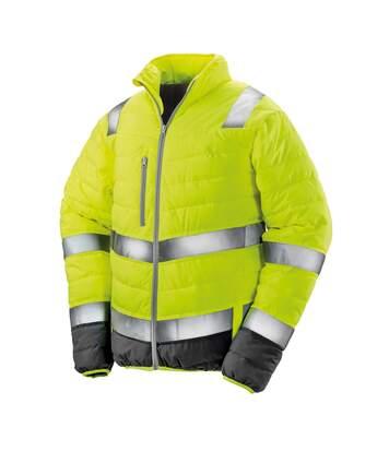 Result Mens Safe-Guard Soft Safety Jacket (Fluorescent Orange/Grey) - UTPC3163