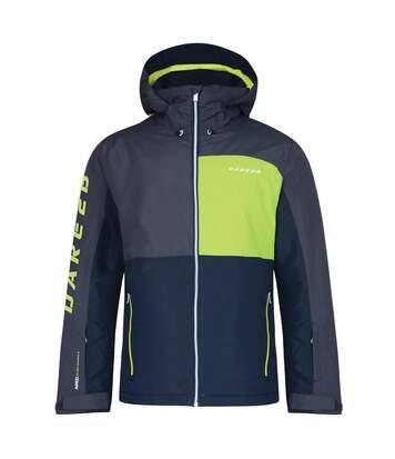 Dare 2B Mens Grey Embargo Waterproof Ski Jacket (Ebony/Electric Lime) - UTRG3834