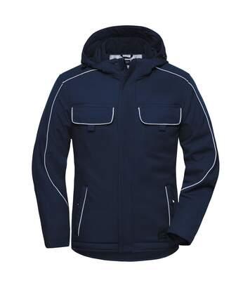 Veste blouson de travail rembourrée softshell - JN886 - bleu marine