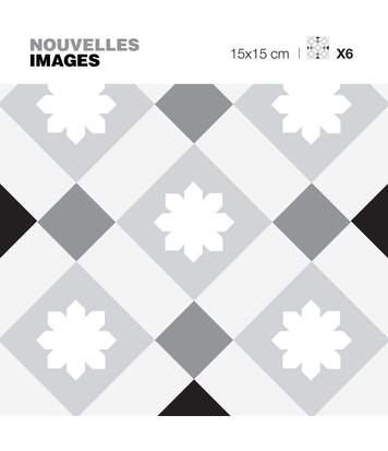 Stickers style scandinave losanges gris 15 x 15 cm (Lot de 6)