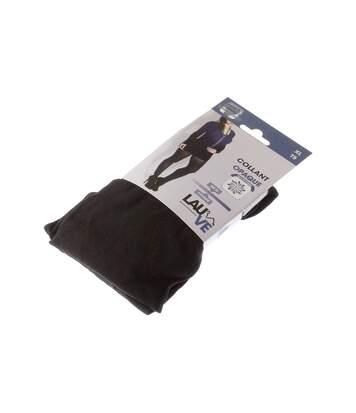 Collant chaud - 1 paire - Unis simple - Opaque - Mat - Gousset polyamide - Noir - Intense opaque