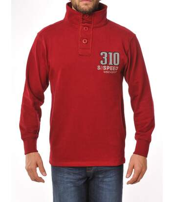 CURT2R SWEAT COL BOUTON ROUGE