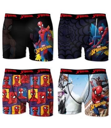 Lot de 4 boxers Homme Freegun Spider-Man Marvel Multicolore