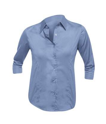 SOLS Womens/Ladies Effect 3/4 Sleeve Fitted Work Shirt (Bright Sky) - UTPC339