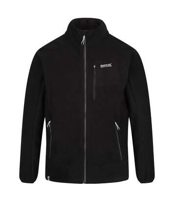 Regatta Mens Sheltor Showerproof Heavyweight Fleece Jacket (Black) - UTRG4626