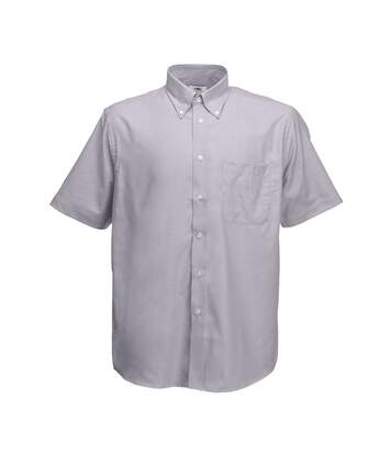 Fruit Of The Loom Mens Short Sleeve Oxford Shirt (Oxford Grey) - UTBC402