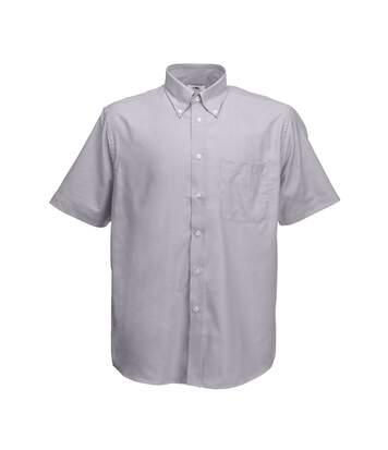 Fruit Of The Loom Mens Short Sleeve Oxford Shirt (Oxford Grey) - UTBC402
