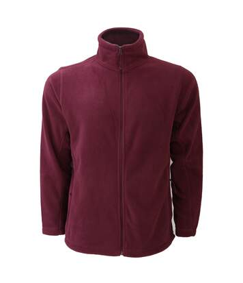 Russell Mens Full Zip Outdoor Fleece Jacket (Burgundy) - UTBC575