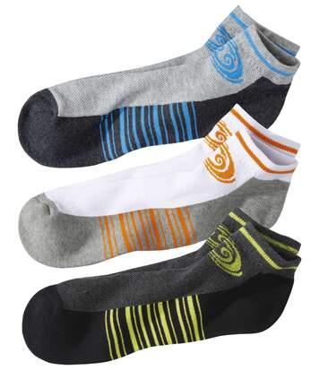 Súprava 3párov športových členkových ponožiek