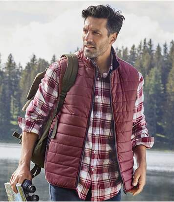Men's Burgundy Padded Gilet