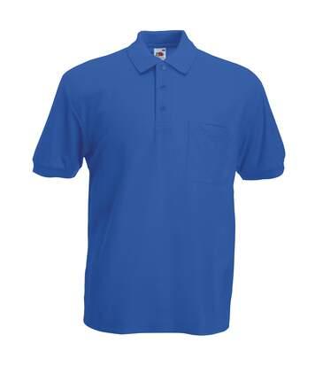 Fruit Of The Loom Mens Pocket 65/35 Pique© Short Sleeve Polo Shirt (Royal) - UTBC387