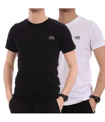 Lot de 2 T-Shirts noir/blanc homme Airness Twice