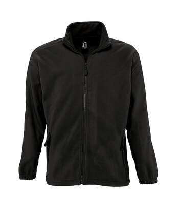SOLS Mens North Full Zip Outdoor Fleece Jacket (Black) - UTPC343