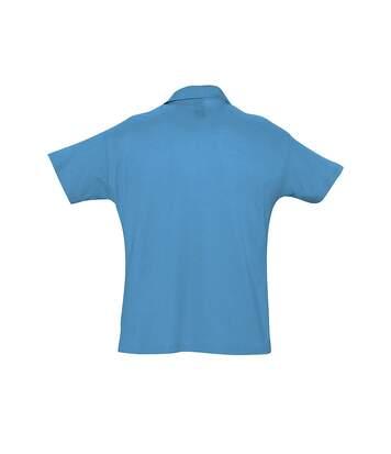SOLS Mens Summer II Pique Short Sleeve Polo Shirt (Black) - UTPC318