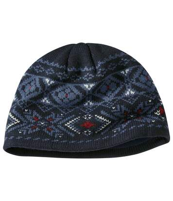 Men's Navy Microfleece-Lined Hat