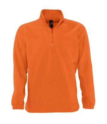 SOLS Ness Unisex Zip Neck Anti-Pill Fleece Top (Orange) - UTPC345