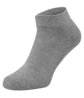 Fruit Of The Loom Unisex Quarter Trainer Socks (Pack Of 3) (Black) - UTRW5631