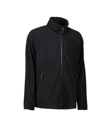 ID Mens Zip N Mix Active Fleece Jacket (Black) - UTID425