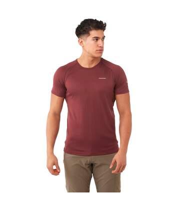 Craghoppers Mens NosiLife Short Sleeve Baselayer T-Shirt (Brick Red) - UTCG1101