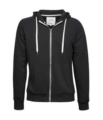 Tee Jays Mens Urban Zip Hoodie (Black) - UTBC3315