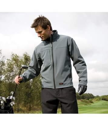Result Mens Softshell Premium 3 Layer Performance Jacket (Waterproof, Windproof & Breathable) (Workguard Grey) - UTBC2046