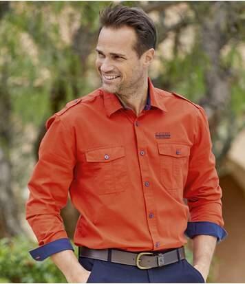 Рубашка в Стиле Авиатор «Экспедиция в Канаду»