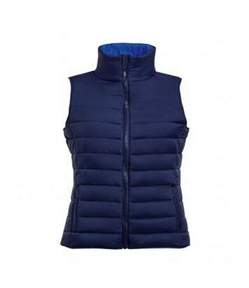 SOLS Womens/Ladies Wave Padded Water Repellent Bodywarmer/Gilet (Navy) - UTPC2454