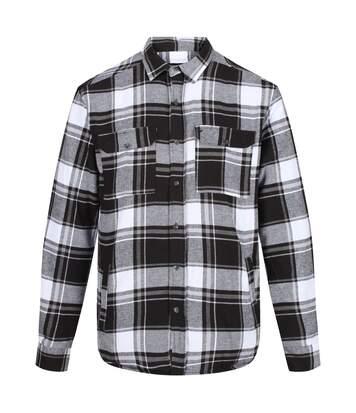 Regatta Mens Tygo Long Sleeved Checked Lined Shirt (Black) - UTRG4601