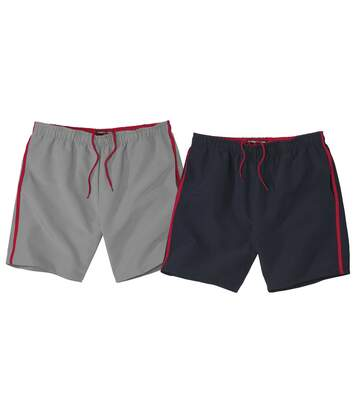 2er-Pack Shorts Sommer Sport aus Microfaser