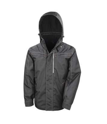 Result Mens Work-Guard Denim Texture Rugged Jacket (Black) - UTRW5168