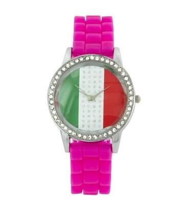 Montre Femme KANIMA bracelet Silicone Rose