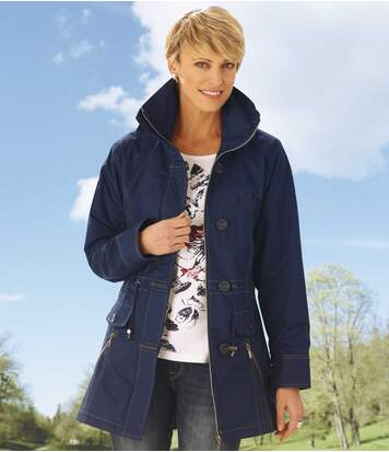 Women's Blue Mid-Season Parka