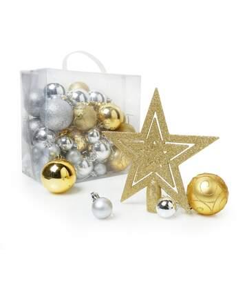 Christmas Shop - Décorations de sapin de Noël (50 pièces) (Or / argent) (Taille unique) - UTRW3815