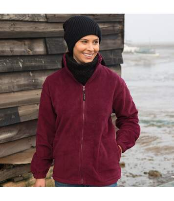 Result Mens Full Zip Active Fleece Anti Pilling Jacket (Burgundy) - UTBC922