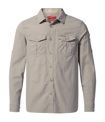 Craghoppers Mens NosiLife Adventure II Long Sleeved Shirt (Parchment) - UTCG1085