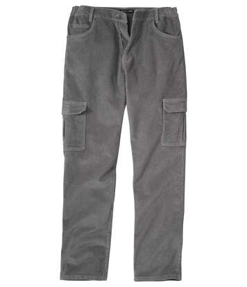 Pantalon Velours Stretch Cargo