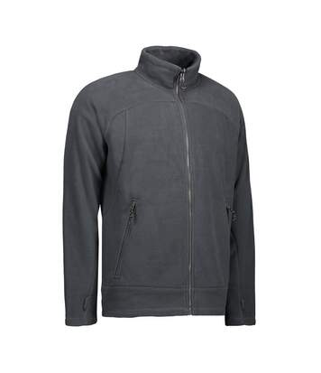 ID Mens Zip N Mix Active Fleece Jacket (Grey) - UTID425