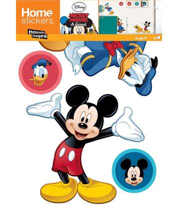 Sticker mural Mickey et 3 copains