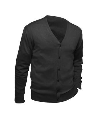 SOLS Mens Golden V Neck Cardigan (Black) - UTPC403