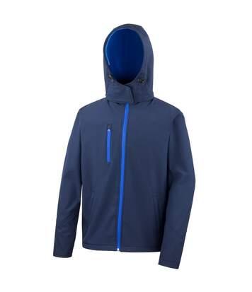 Result Core Lite - Veste Softshell À Capuche - Homme (Bleu marine/Bleu roi) - UTBC3253