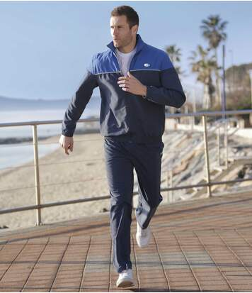 Men's Navy Blue Microfibre Tracksuit