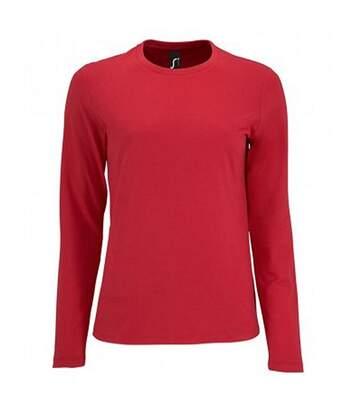 SOLS Womens/Ladies Imperial Long Sleeve T-Shirt (Red) - UTPC2906