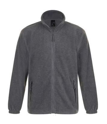 SOLS Mens North Full Zip Outdoor Fleece Jacket (Grey Marl) - UTPC343